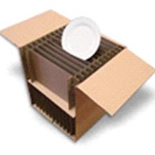 Carton double cannelures